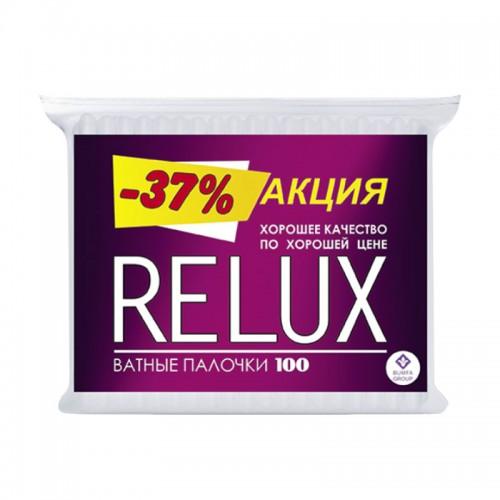 RELUX Ватные палочки 100шт в мягкой упаковке