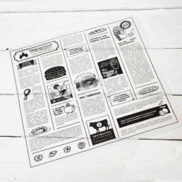 Бумага оберточная парафинированная пищевая 305х305мм Газета