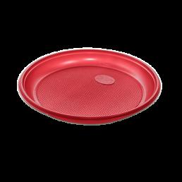 Тарелка одноразовая д-205 100шт Красные