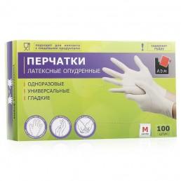 АДМ перчатки латексные 100шт M