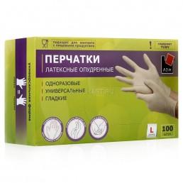 АДМ перчатки латексные 100шт L