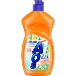 АОС EXTRA POWER Средство для мытья посуды 450г Бальзам Ромашка и Витамин Е