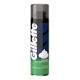 GILLETTE Пена для бритья 200мл С ароматом ментола