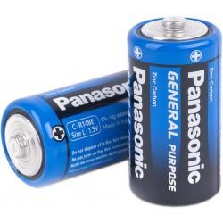 PANASONIC Батарейки солевые C-R14BE 1.5V 2шт