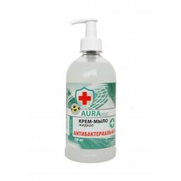 AURA CLEAN Крем-мыло жидкое 500мл Антибактериальное