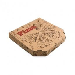 Короб для пиццы 31х31см Бурая с печатью