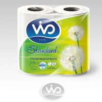 ВИВО Туалетная бумага 2сл 4рул Стандарт
