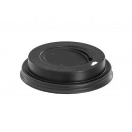 Крышка на бумажный стакан д-80 100шт Черные