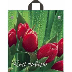 Пакет с петлевой ручкой 40х44см Красный тюльпан