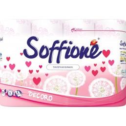 SOFFIONE DECORO Туалетная бумага 2сл 12рул Красная