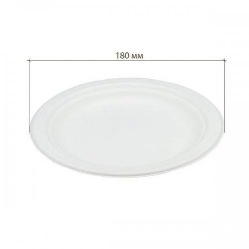 Тарелка биоразлагаемая д-172мм 10шт