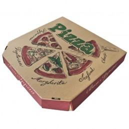 Короб для пиццы 35х35см Бурая с печатью