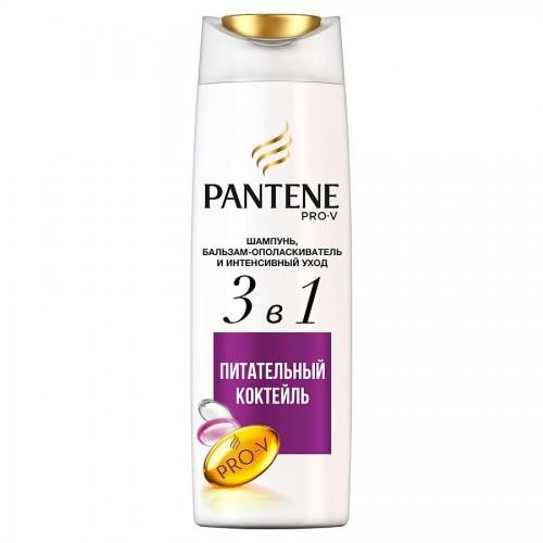 PANTENE PRO-V Шампунь 400мл 3в1 Интенсивный уход, Питательный коктейль