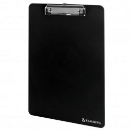 BRAUBERG Доска-планшет с верхним прижимом А4 2мм Черный