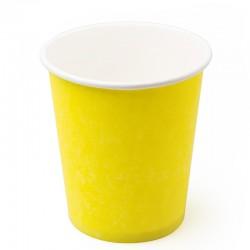 Стакан бумажный одноразовый 250мл д-80мм 50шт Желтый