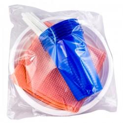 Набор цветной посуды 6шт