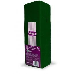 ПЛЮШ Салфетки бумажные 24х24см 1сл 400л Интенсив, Зеленые