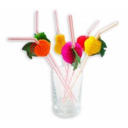 Трубочки для напитков Фрукты 50шт