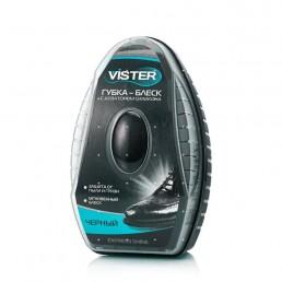 VISTER Губка-блеск с дозатором силикона 6мл Черная