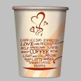 Стакан бумажный одноразовый 100мл д-62мм 50шт Кофе