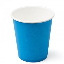 Стакан бумажный одноразовый 250мл д-80мм 50шт Голубой