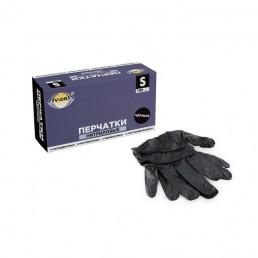 АВИОРА Перчатки нитриловые неопудренные 100шт XL Черные