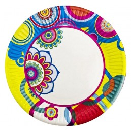 Тарелка бумажная д-180мм 50шт Адажио