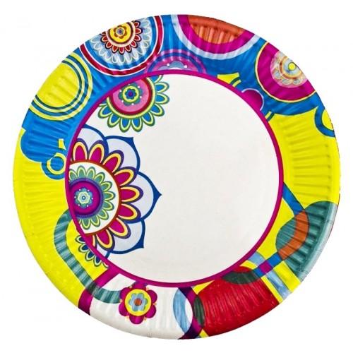 Тарелка бумажная д-230мм 50шт Адажио
