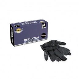 АВИОРА Перчатки нитриловые 100шт M Черные