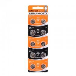 MINAMOTO Батарейки алкалиновые LR44/357/AG13 1.5V 2шт