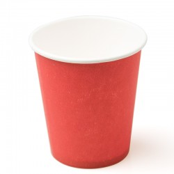 Стакан бумажный одноразовый 250мл д-80мм 50шт Красный