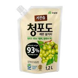 RICH BUBBLE Жидкость для мытья посуды 1л Зеленый виноград м-у