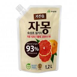 RICH BUBBLE Жидкость для мытья посуды 1,2л Сочный грейпфрут