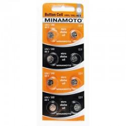 MINAMOTO Батарейки алкалиновые LR41/392/AG3 1.5V 2шт