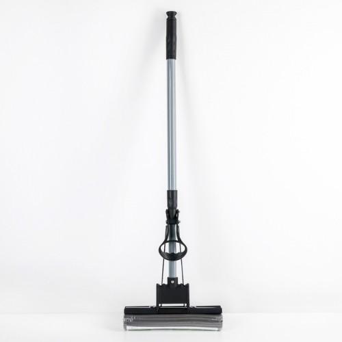 Швабра ПВА с роликовым отжимом, телескопическая ручка 120см