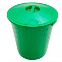 Бак пластиковый с крышкой 70л