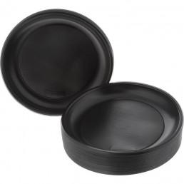 Тарелка одноразовая д-205 100шт Черные