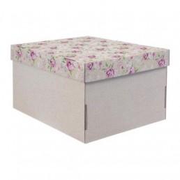 Складная коробка с крышкой 31.2х25.6х16.1см Уютный шебби арт 2640215
