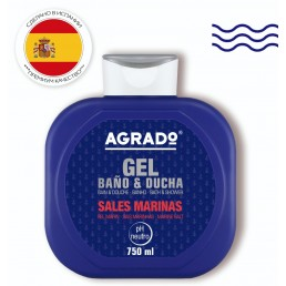 AGRADO Гель для душа 750мл Marine salts