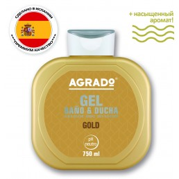 AGRADO Гель для душа 750мл Gold