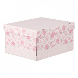 Складная коробка с крышкой 31.2х25.6х16.1см Милый дом арт 3425496