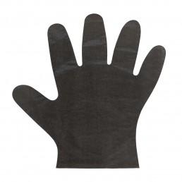 АВИОРА Перчатки одноразовые полиэтиленовые 100шт М Черные