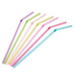 Трубочки для напитков 5х210мм, гофра, 250шт Цветные