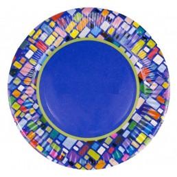 Тарелка бумажная д-180мм 50шт Мозаика
