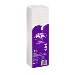 ПЛЮШ Салфетки бумажные 24х24см 1сл 400л Пастель, Белые