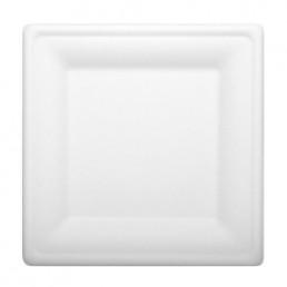 Тарелка биоразлагаемая 260х260х18мм Белая