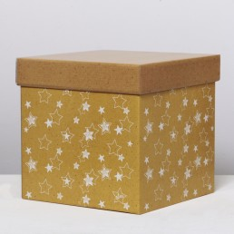 Складная коробка с крышкой 27.5х27.5х27.5см Звезды арт 4016170
