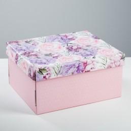 Складная коробка с крышкой 32х25.6х16.1см Цветочная сказка арт 4520892