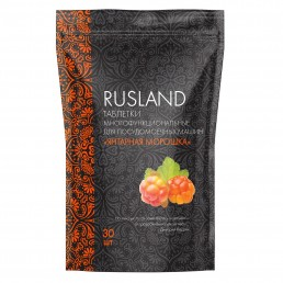 RUSLAND Таблетки многофункциональные для посудомоечных машин 30шт Янтарная морошка