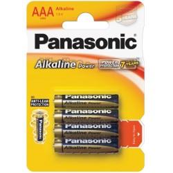 PANASONIC Батарейки алкалиновые ААА 1.5V 4шт